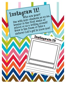 """""""Instagram"""" It! Social-Network Themed Tool for Tons of Classroom Tasks!"""
