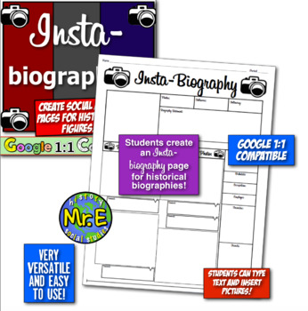 Insta Biographies! Students create Insta pages for biographies!