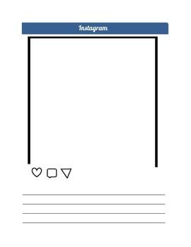 Instagram Persuasive Media Assignment Freebie