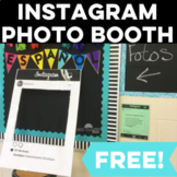 Back to School: Instagram Photo Booth - great for 1st day of school