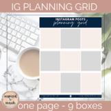 Instagram Planning Page for Nine Posts