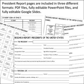 Instagram President Report BUNDLE