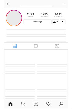 Instagram Profile Project - Blank Profile - Poster & SinglePage size