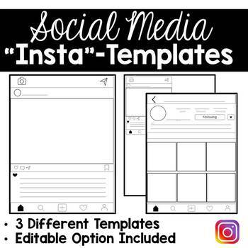 Instagram Project Templates (Editable Versions Included) U