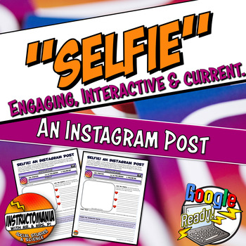 """Instagram """"Selfie"""" From A Famous Figure or Character Analysis Common Core"""