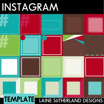 Instagram Social Media Templates - 30 Pre-made templates - Christmas Theme
