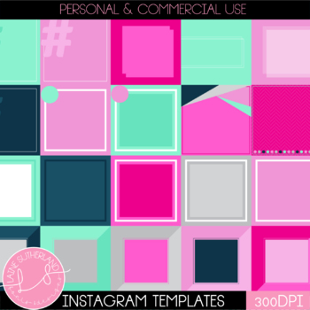 Instagram Social Media Templates - 30 Pre-made templates - Donut Day Theme