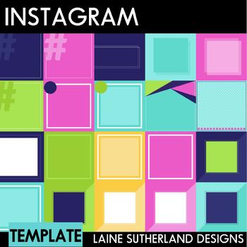 Instagram Social Media Templates - 30 Pre-made templates - Tropical Theme