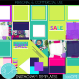 Instagram Social Media Templates - 35 Pre-made templates - Spring Valentine