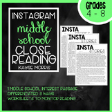 Instagram Stories Close Reading for Middle School (4-8)