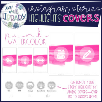 Instagram Stories Highlights Covers {Pink Watercolor}