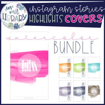 Instagram Stories Highlights Covers {Watercolor GROWING BUNDLE}