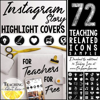 Instagram Story Highlight Cover Freebie / IG Social Media Covers / Chalkboard