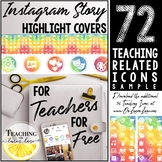 Instagram Story Highlight Cover Freebie / IG Social Media Covers / Watercolor