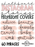 Instagram Story Highlight Covers | Blush Pink and Black | Script