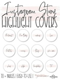 Instagram Story Highlight Covers   Blush and Handwritten