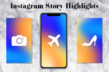 Instagram Story Highlights Icons Pack, Colorful Lifestyle Instagram Icons