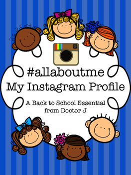 Instagram Student Profiles for Back to School or End of Year  # all about me