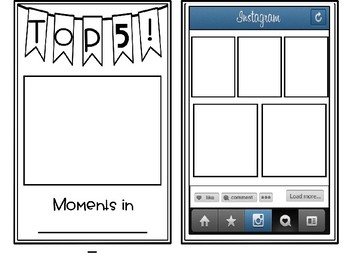 Instagram TOP 5- Moments of the School Year (Editable)!