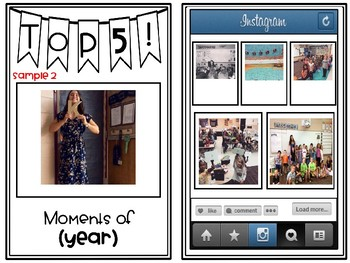 Instagram TOP 5- Moments of the Year (Editable)!