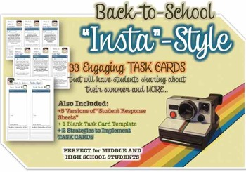 """Instagram """"Back to School"""" Activity that Students LOVE!"""