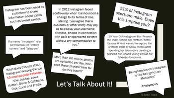 FREE Instagram Graphic Organizer Template & Presentation
