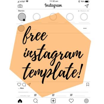 бесплатный шаблон инстаграм