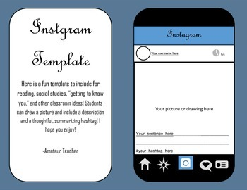 Instagram Template Extension Activity