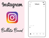 Instagram Template, Instagram Bulletin Board, Instagram Activity