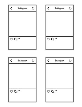 Instagram Template for Bulletin Board//Get to know you or goal setting activity