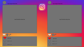 Instagram Template for PowerPoint and Google Classroom