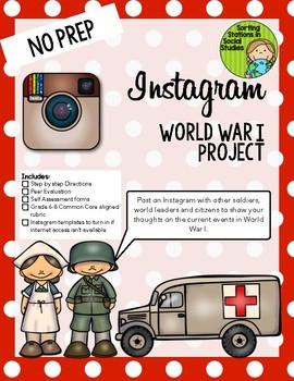 Instagram World War I (WWI) Project (Middle grades version)