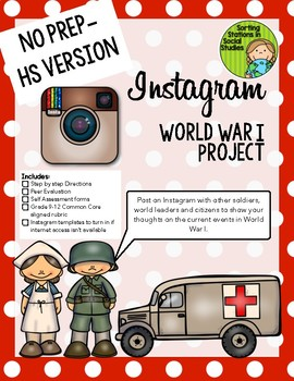Instagram World War I (WWI) Project (High school version)