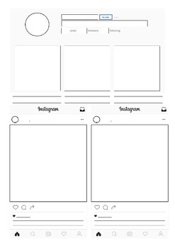 Instagram character profile template
