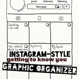 Instagram getting to know you graphic organizer