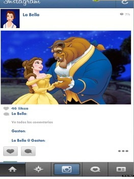 Instagram in Spanish of your favorite Disney Characters