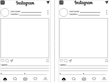 Instagram or Instamyth Template for Literary or Historical Figures