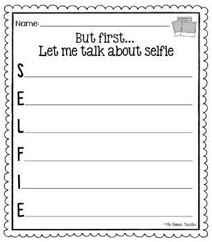 instagram selfie templates and worksheets by kids and coffee tpt. Black Bedroom Furniture Sets. Home Design Ideas