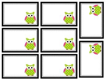 ...Grade is a Hoot (Owls)-Labels