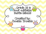 ...Grade is a Hoot (Owls)-Labels