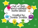 Out of this World (Aliens/Monsters)-Space Labels