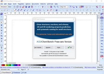 Install Freeware Chemsketch 2015 (Enrichment chemistry Series)