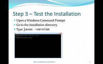 Installing the Java JDK