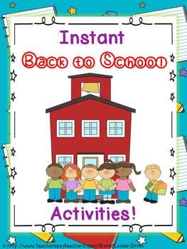 Instant Back to School Activities!