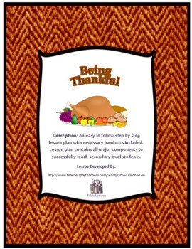 Instant Bible Lesson: Being Thankful