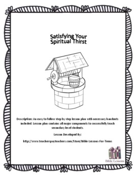 Instant Bible Lesson: Satisying your Spiritual Thirst