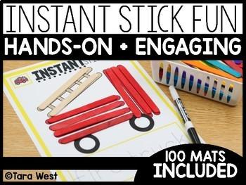 Instant Center Mats: Stick Fun (Fine Motor, Morning Work, Morning Tubs)