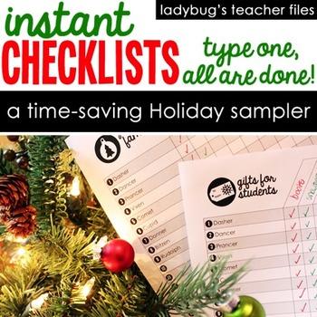 Instant Checklists Holiday Sampler
