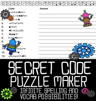 Automatic Secret Code Puzzle Maker
