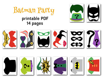image regarding Free Printable Superhero Photo Booth Props named Instantaneous Down load Batman Picture Booth Props, Superhero Batman Celebration Printable 0399
